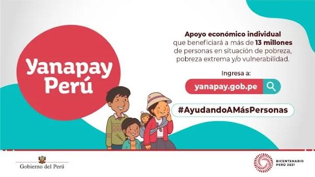Así puedes verificar y cobrar el Bono Yanapay de 350 soles del 2021