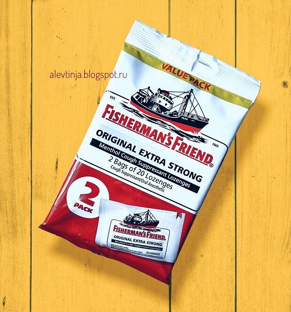 Fisherman's Friend, Menthol Cough Suppressant Lozenges, Original Extra Strong, 40 Lozenges
