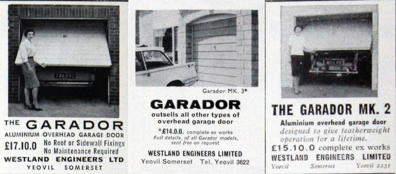Garador vintage adverts from 1950s and 1960s