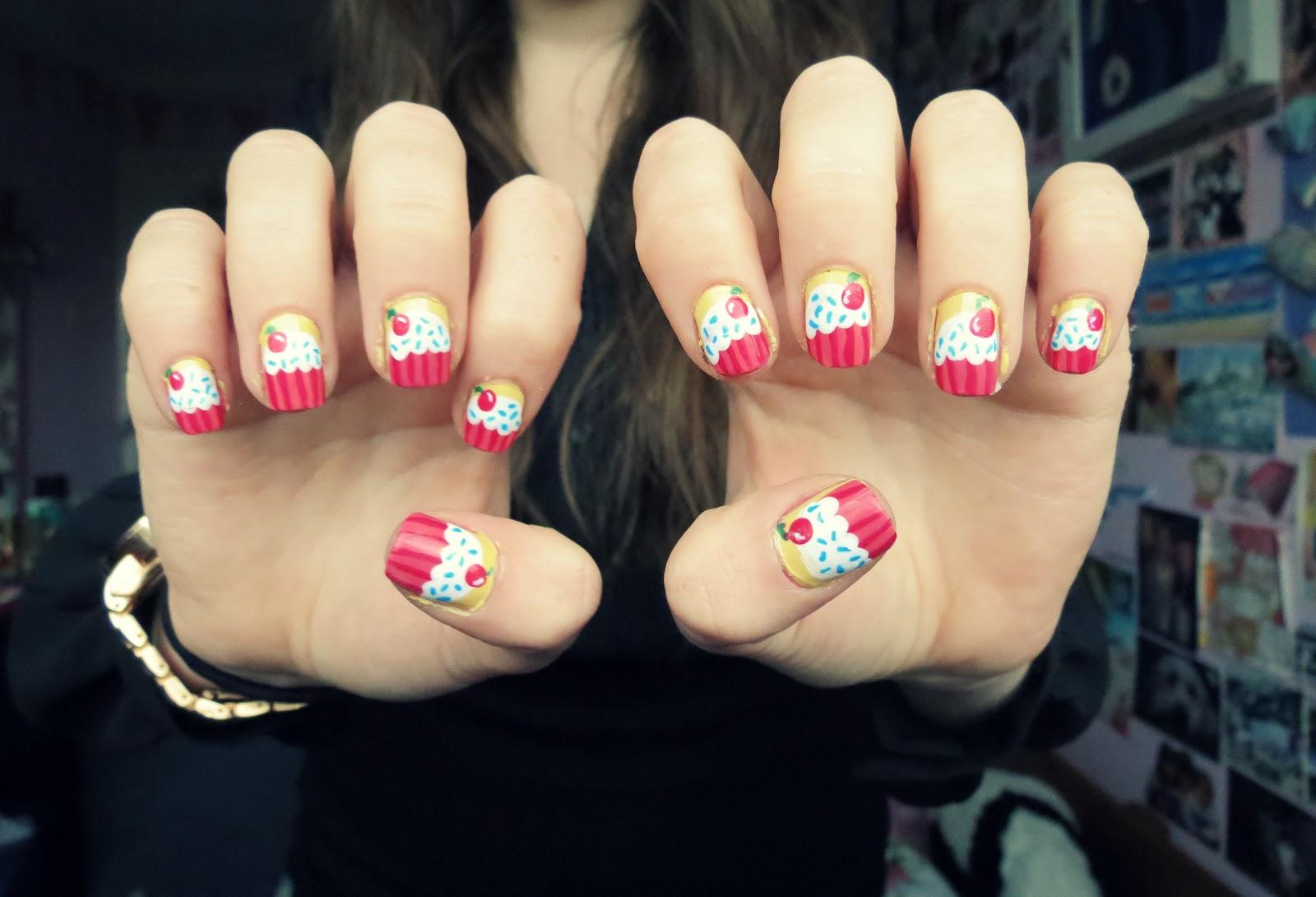 Cupcakes nails monday november 21 2016 prinsesfo Gallery