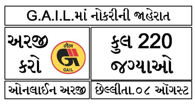 GAIL Recruitment 2021 @gailonline.com