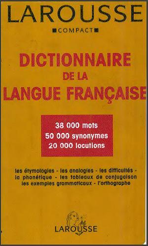 Dictionnaire : Larousse Compact - Dictionnaire De La Langue Francaise