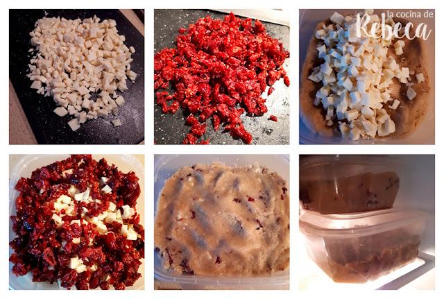 Receta de cookies de chocolate blanco y arándanos secos: la masa 3
