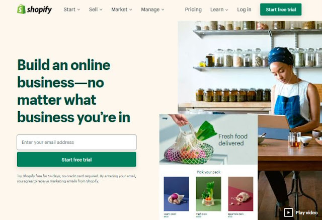 shopify top small business website builder ecommerce site design