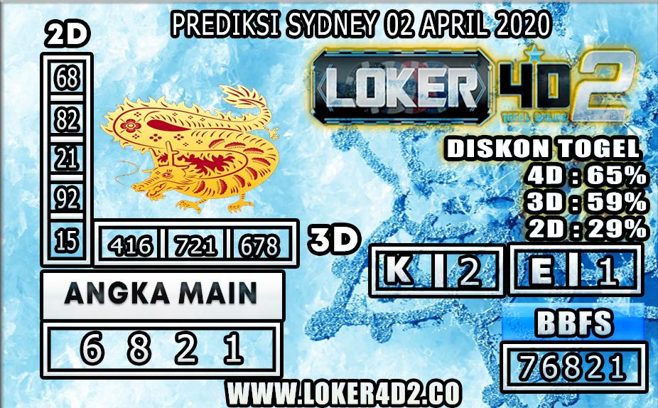 PREDIKSI TOGEL SYDNEY LOKER4D2 02 APRIL 2020