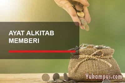 ayat alkitab tentang memberi