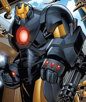Espectacular y enorme armadura de Iron Man