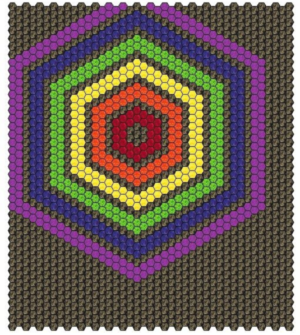 Hexie Rainbow plan | DevotedQuilter.com