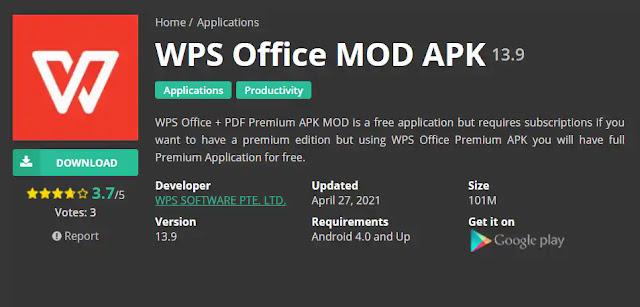 Download WPS Office Terbaru Tanpa Iklan Untuk Android