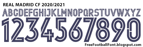 Free Football Fonts: Real Madrid CF 2020/2021 UEFA ...