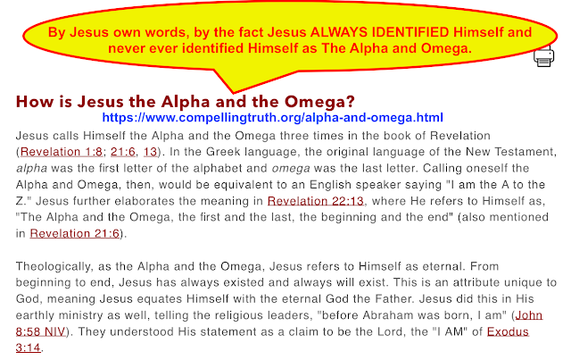 How is Jesus the Alpha and the Omega?