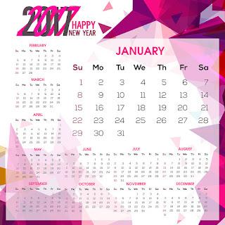 2017カレンダー無料テンプレート77