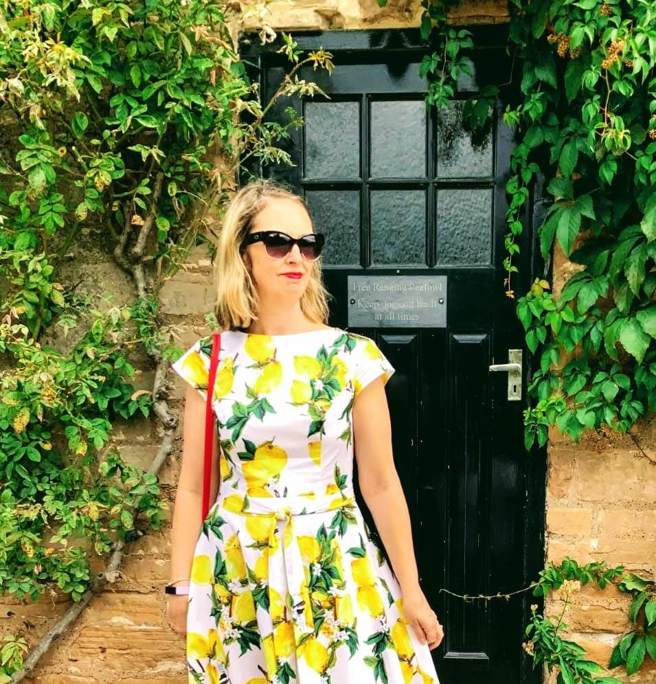 Summertime and lemon dress