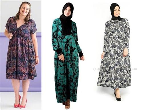 dress batik untuk wanita gemuk