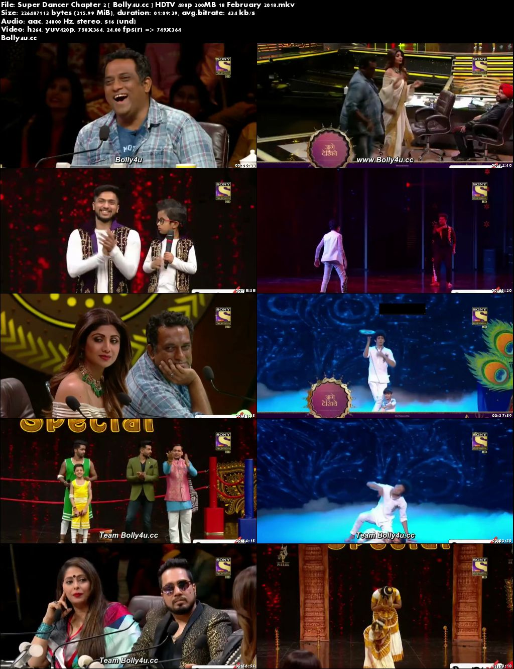 Super Dancer Chapter 2 HDTV 480p 200MB 18 February 2018 Download