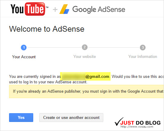 link youtube channel to google adsense