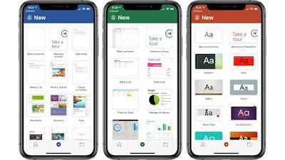 Microsoft Word, Excel, PowerPoint no iOS recebem um facelift menor