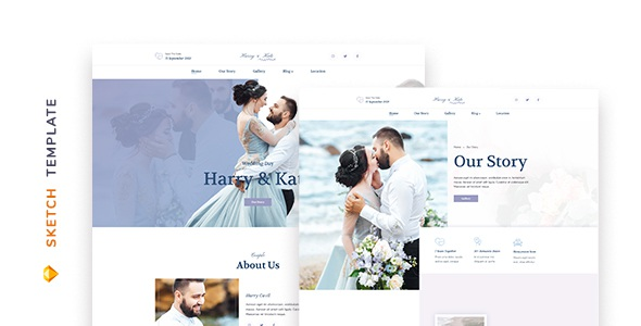 Best Wedding Template for Sketch