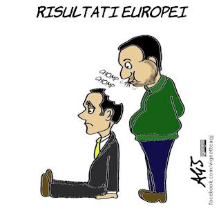 salvini, di maio, elezioni europee, trionfo lega, alleati di governo, politica, vignetta, satira