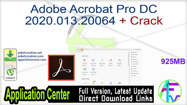 Adobe Acrobat Pro DC 2020.013.20064 + Crack