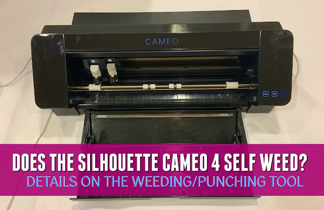 silhouette 101, silhouette america blog, cameo 4, self weed, punch tool