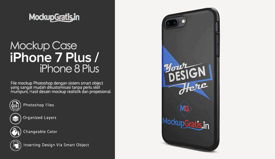 Download Mockup Case iPhone 7 Plus / 8 Plus Gratis