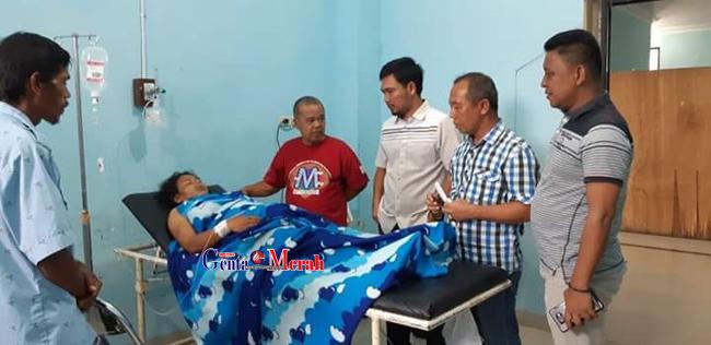 Sadis..Disatroni Dua Orang Asing, Istri dan Anak Ketua RK di Mesuji Ditembak & Dihujam Pisau