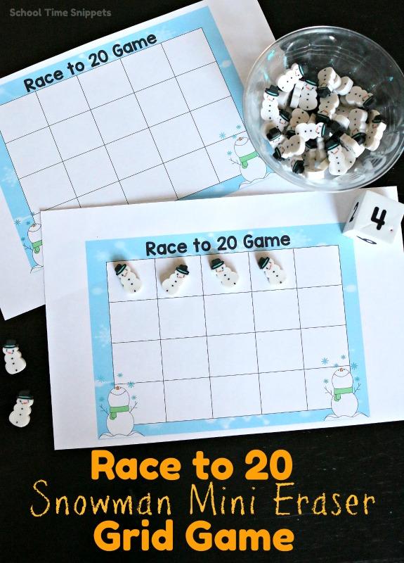 mini eraser grid game
