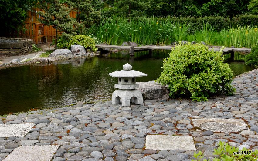 Японский сад в Ботаническом саду Санкт-Петербург