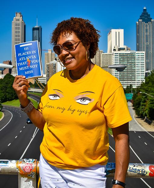 Janet on Jackson Street Bridge | Photo: Travis Swann Taylor