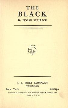 The Black Novel (1920 )by Edgar Wallace Free PDF Novel