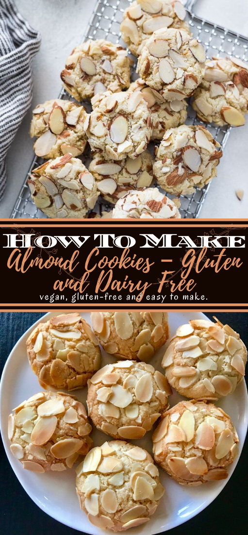 Almond Cookies – Gluten and Dairy Free #desserts #cakerecipe #chocolate #fingerfood #easy