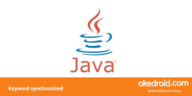 belajar contoh program penggunaan menggunakan keyword fungsi synchronized di bahasa program java