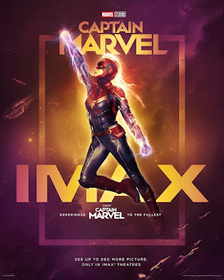 Captain Marvel IMAX Theatrical One Sheet Movie Poster