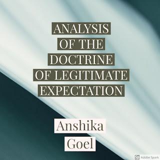 ANALYSIS OF THE DOCTRINE OF LEGITIMATE EXPECTATION