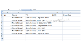 data excel ke mailings microsoft word