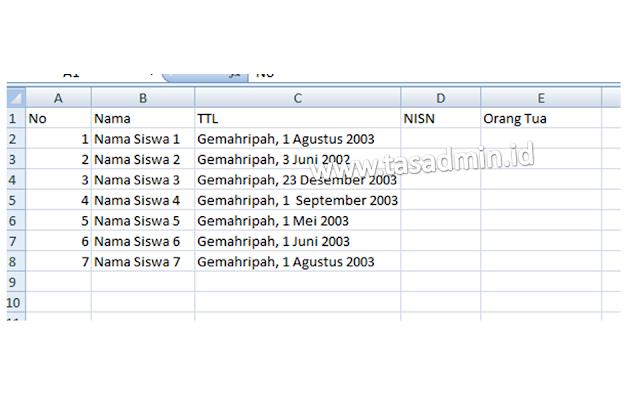 data excel ke mailings microsoft word