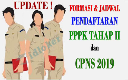 Jadwal dan Formasi Rekrutmen PPPK Tahp II dan CPNS 2019
