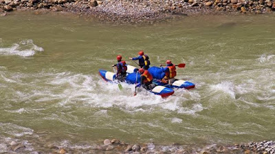 Rafting in Kolad, Maharashtra