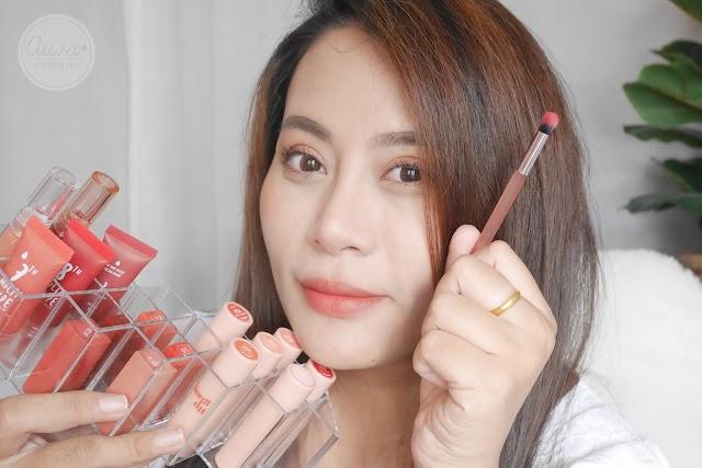 :: รีวิว 4u2 Lip Brush แปรงทาปากเบลอขอบฟุ้งๆ แบบมือโปร ทาให้ดู 4 แบบ ::