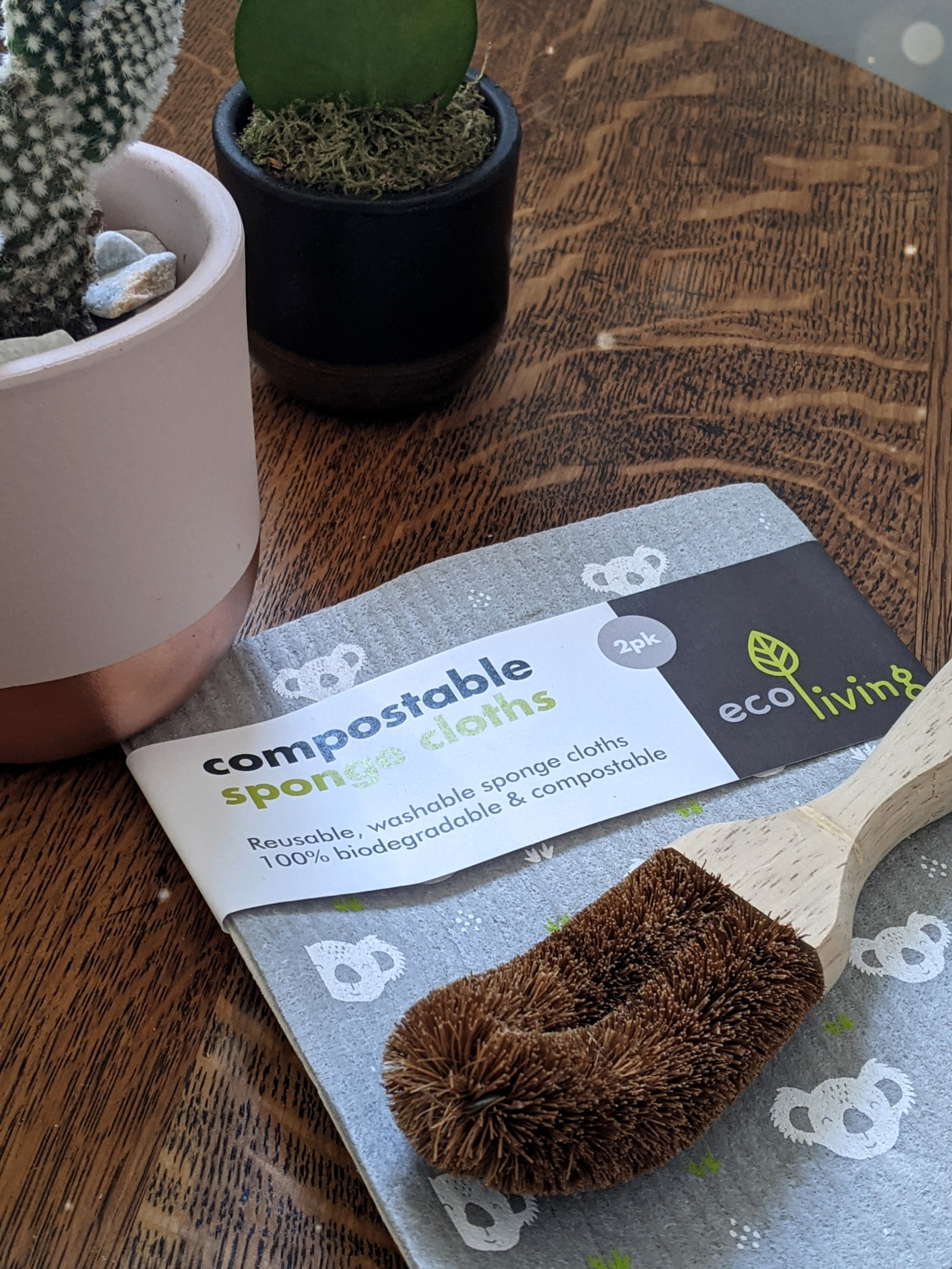 doodleheart.co.uk zero zen greener lifestyle eco living blog blogger kitchen swaps coconut scourer compostable cloths littlepackofvegans