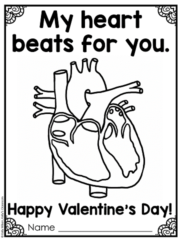 Learn about the history of Valentine's Day and download a free Valentine's Day coloring page for your students.  #kellysclassroomonline