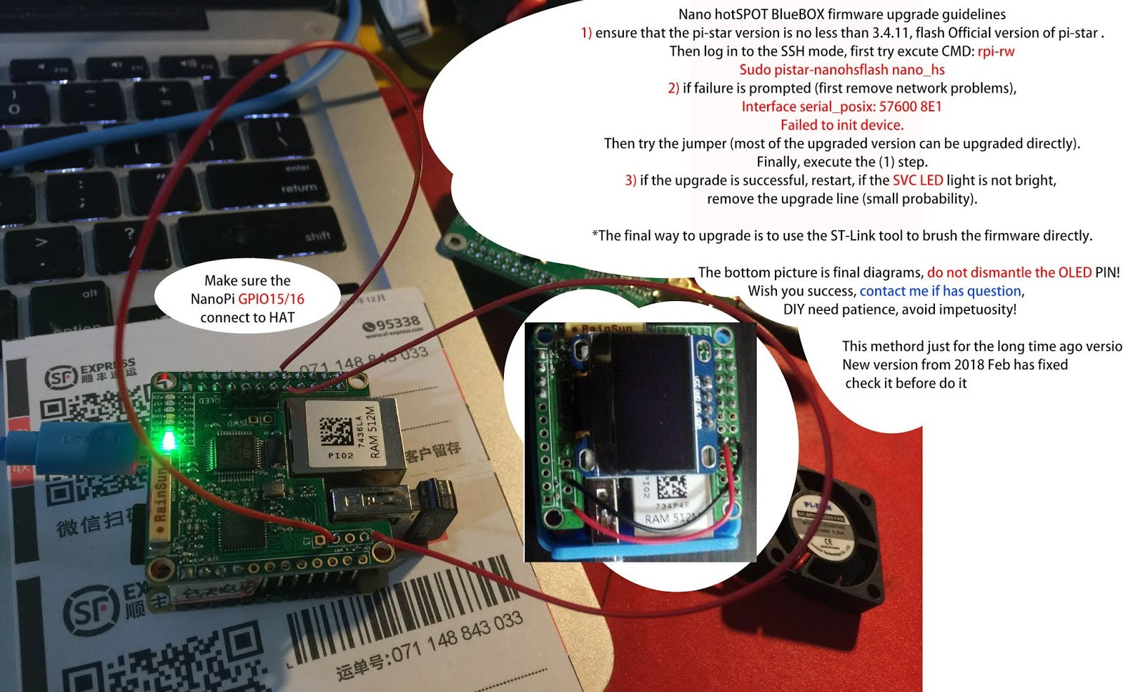 BI7JTA BLOG for MMDVM: UserGuide for Nano hotSPOT(blueBox)