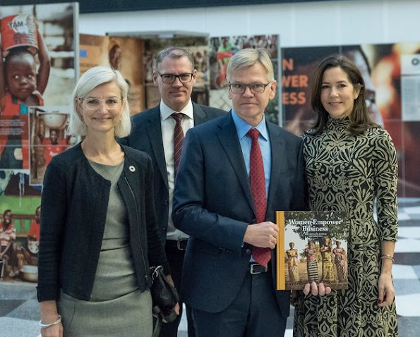 "Crown Princess Mary attended a launch of the book called ""Women Empower Business"" at Danish Industry"