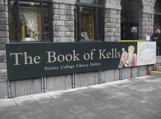 Book of Kells at Trinity Library in Dublin Ireland