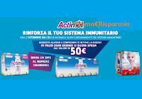 Concorso Actimel vinci 210 buoni spesa Coop da 50€