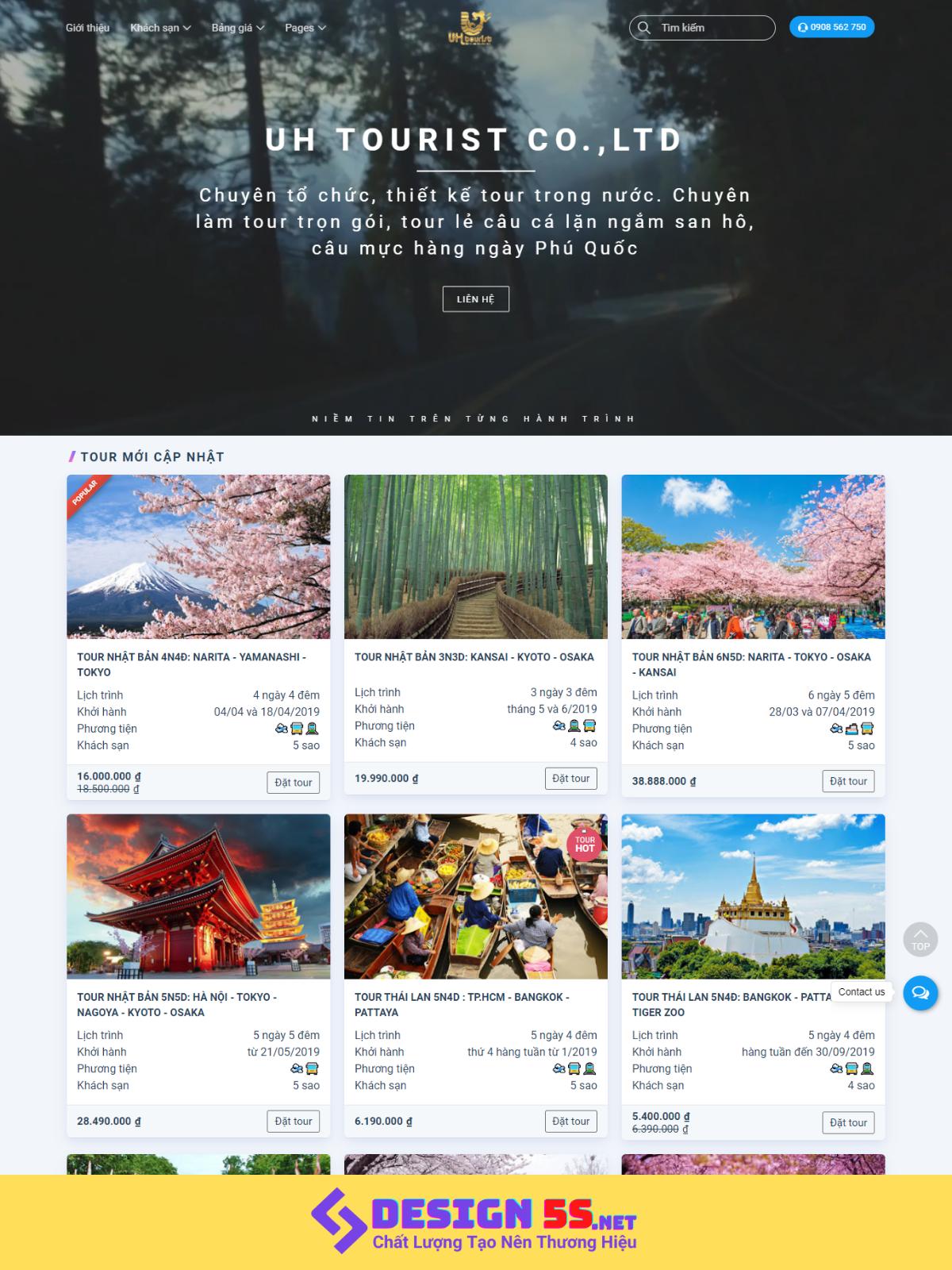 Template blogspot du lịch đặt tour online VSM74
