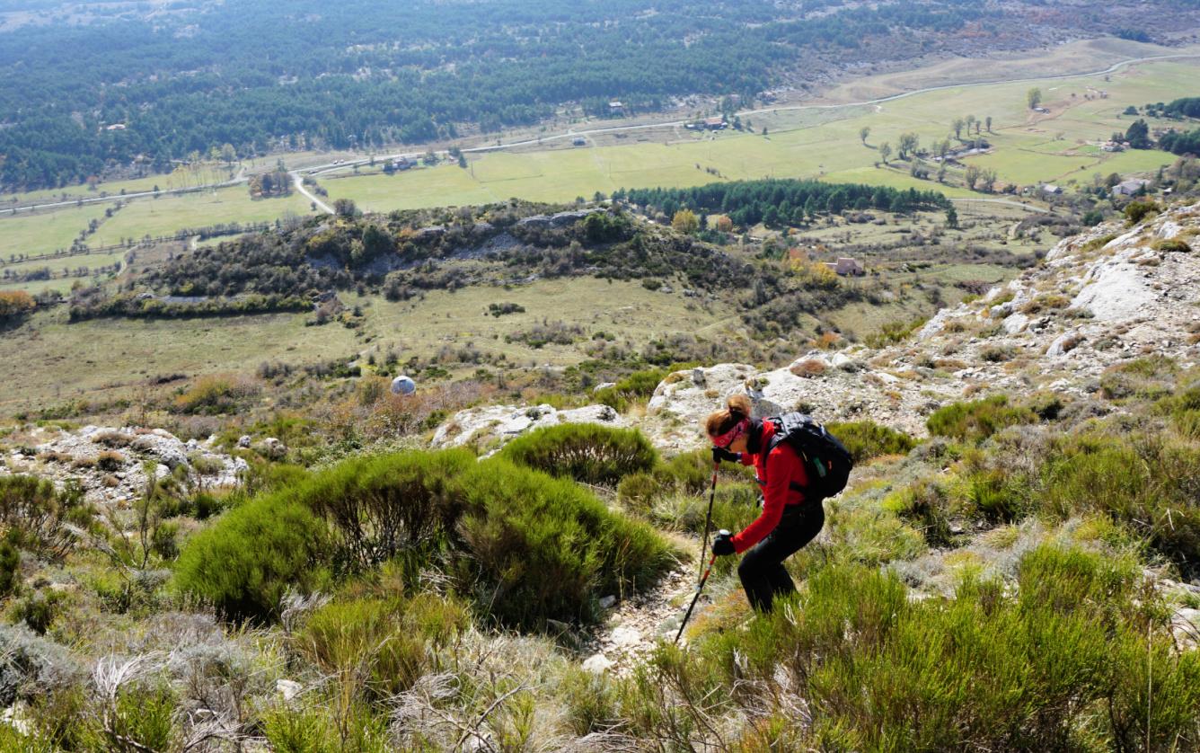 Descent from Colle de Rougiès