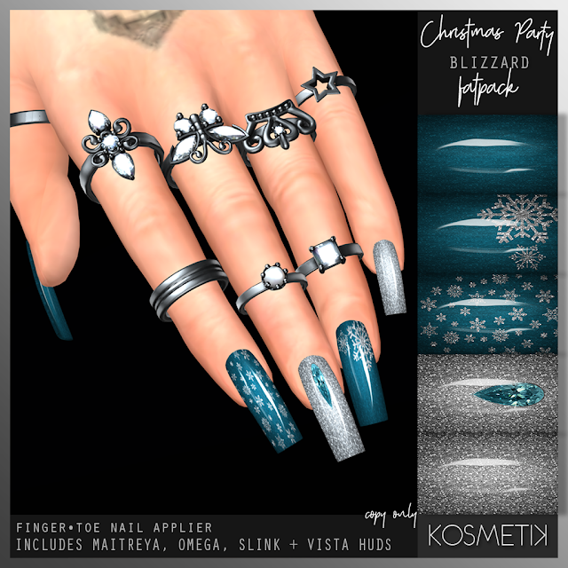 .kosmetik Christmas Party Blizzard and Peace Nails