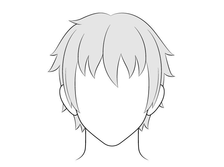 Gambar rambut pria anime